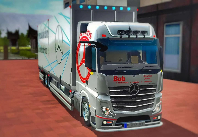 Mercedes Benz Actros Truck Mod for BUSSID - SGCArena, BUSSID Truck Mod