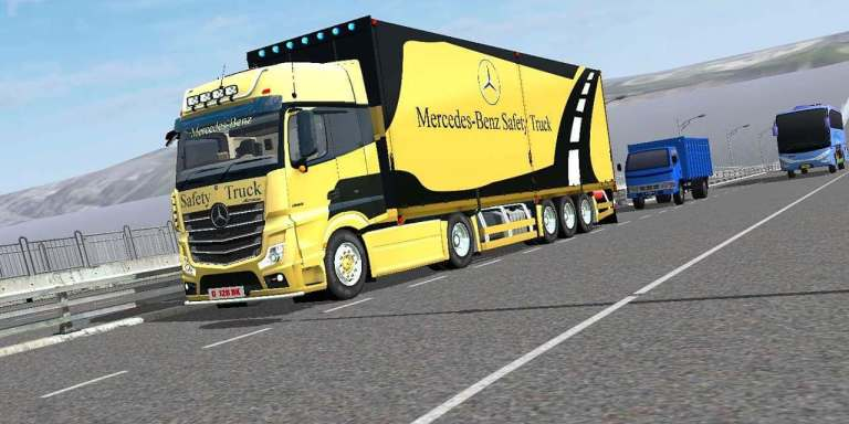 Mercedes Benz Actros Truck Mod for Bus Simulator Indonesia
