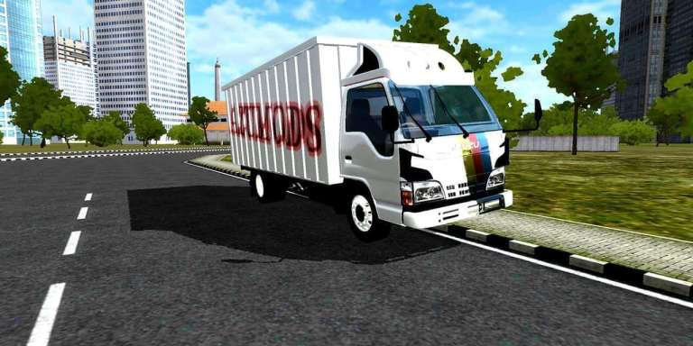 Isuzu ELF NKR 71 Mod for Bus Simulator Indonesia