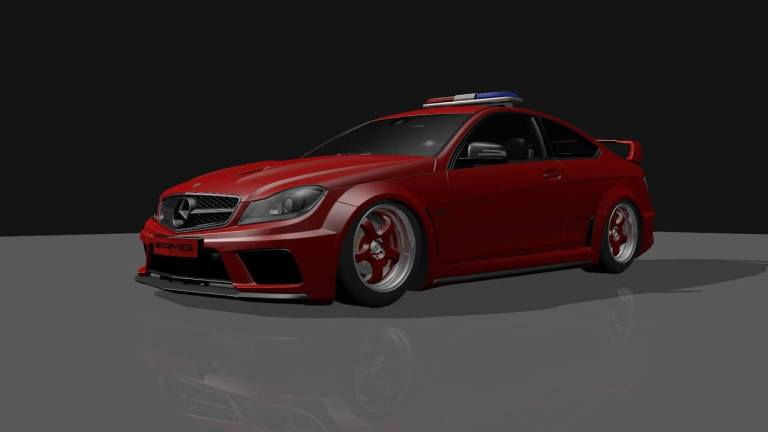 Mercedes Benz C63 Car Mod for Bus Simulator Indonesia