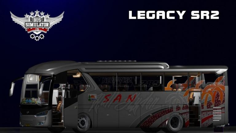 Legacy SR2 Bus Mod for Bus Simulator Indonesia