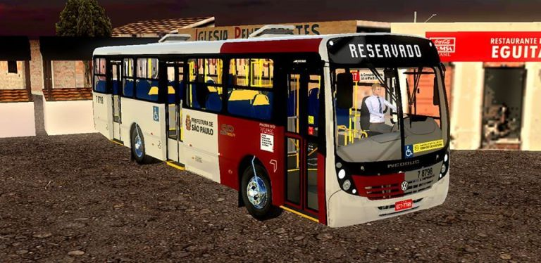 Neobus Mega 06 Vw 17.230 EOD SPTrans Standard Mod for Proton Bus