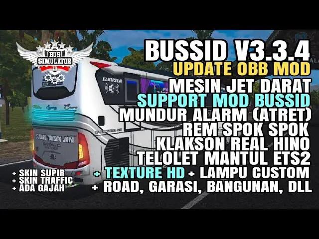 Download BUSSID V3.3.4 Obb: Sound Jet Darat Support Mod + Texture Hd Dll, , BUSSID OBB Mod, Famnuery