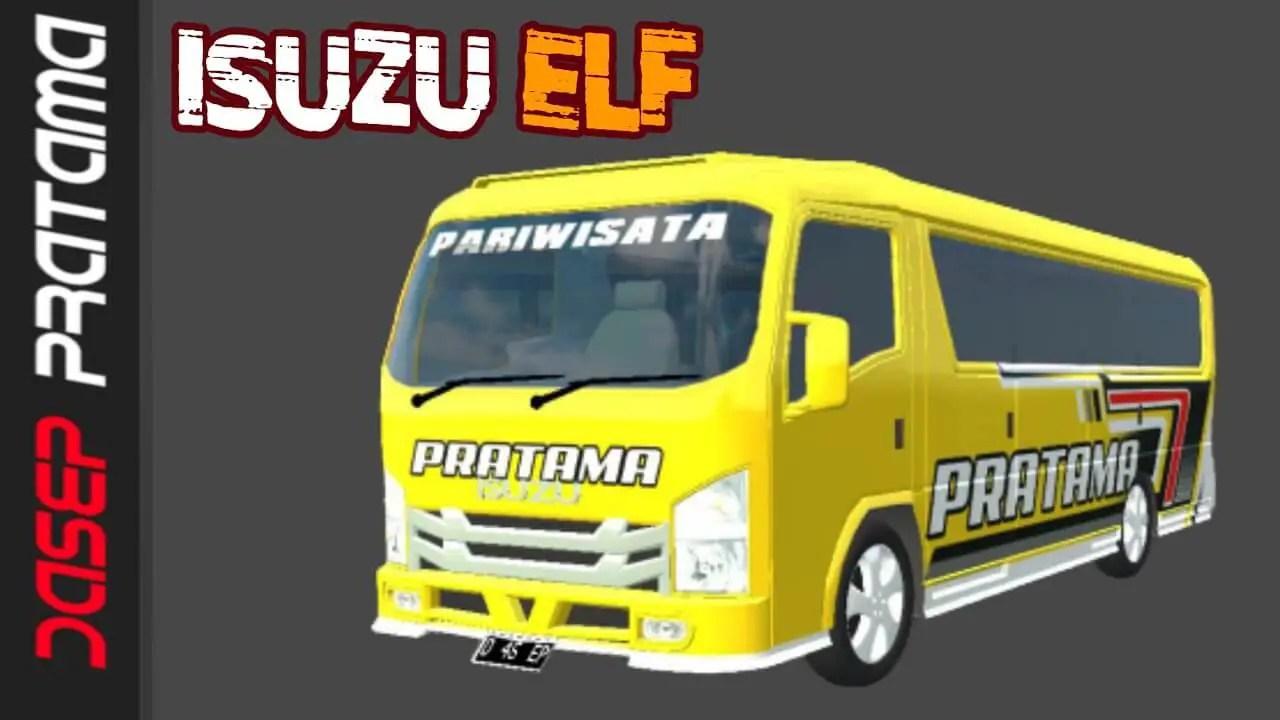 ELF Isuzu Terbaru, ELF Isuzu Terbaru Mod BUSSID, Mod BUSSID ELF Isuzu Terbaru, BUSSID Minibus Mod, SGCArena