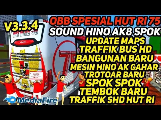BUSSID V3.3.4 Obb Mod: Sound Hino Ak8 & Terminal New Wall
