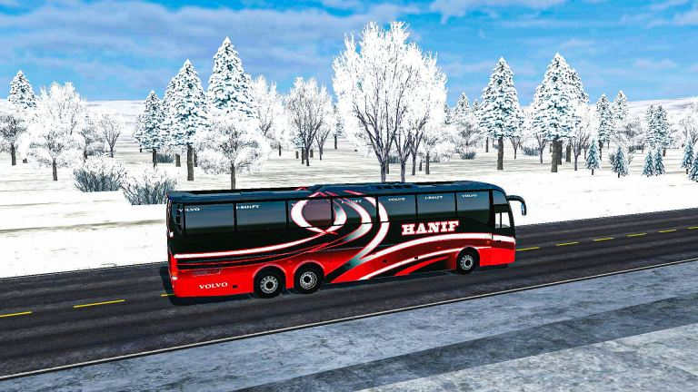 BUSSID V3.3.4 New Winter Graphic & BD Traffic Mod