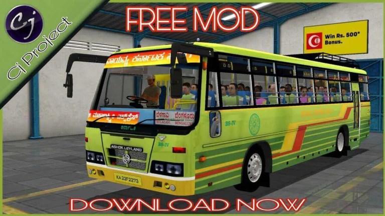 Karnataka SRTC Ashok Leyland Bus Mod for BUSSID