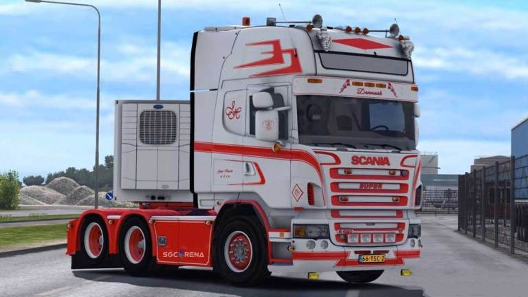 Scania R620 Racing Style Truck Mod for BUSSID
