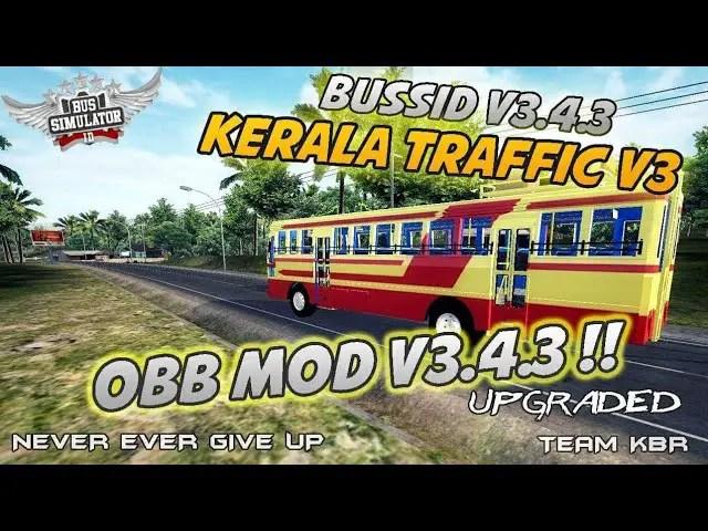 BUSSID V3.4.3: Kerala Traffic V3 Obb Mod