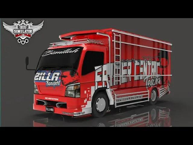 Canter Cabe Karma Terbaru Mod BUSSID, BUSSID Truck mod, Canter Cabe Karma Terbaru Mod BUSSID