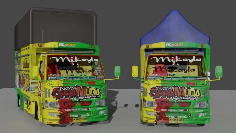 Canter Oppa Muda Truck Mod for BUSSID