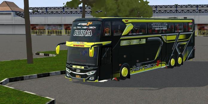 Download JetBus3+ Ultra High Deck Bus Mod for BUSSID, BUSSID Bus Mod, Jebus Mod BUSSID
