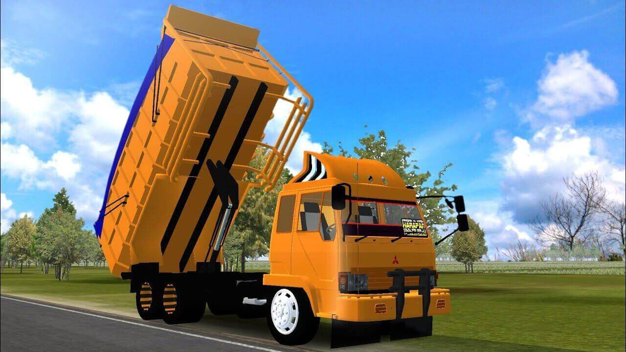 Download New Mitsubishi Fuso Dump Truck Mod for BUSSID from SGCArena, BUSSID Truck Mod