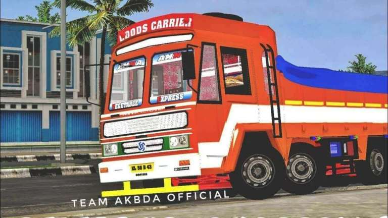 Ashok Leyland 14 Wheeler Truck Mod for BUSSID
