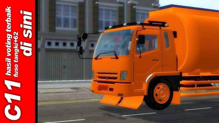 Mitsubishi Fuso Fighter Truck Mod for BUSSID