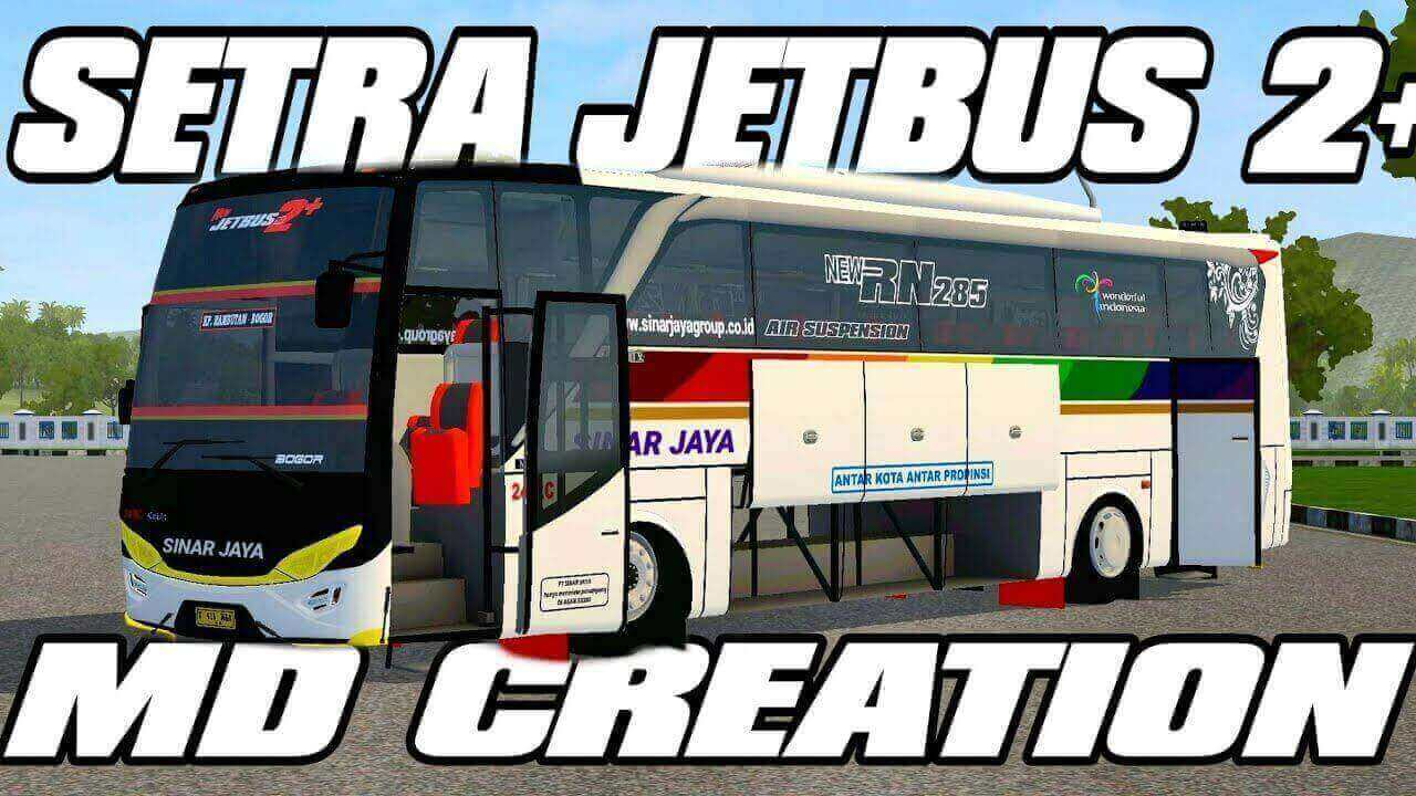 Download Setra Jetbus 2+ HD Bus Mod for BUSSID, Setra Jetbus 2+ HD, BUSSID Bus Mod, BUSSID Vehicle Mod, JetBus HD Mod for BUSSID, MD Creation
