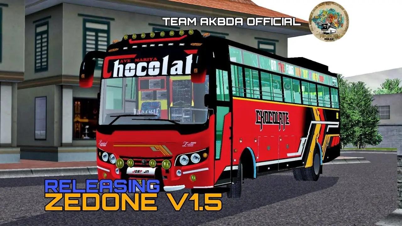 Download Zedone V1.5 Indian Bus Mod for BUSSID, Zedone V1.5, BUSSID Bus Mod, BUSSID Vehicle Mod, Indian Bus Mod BUSSID, Team AKBDA