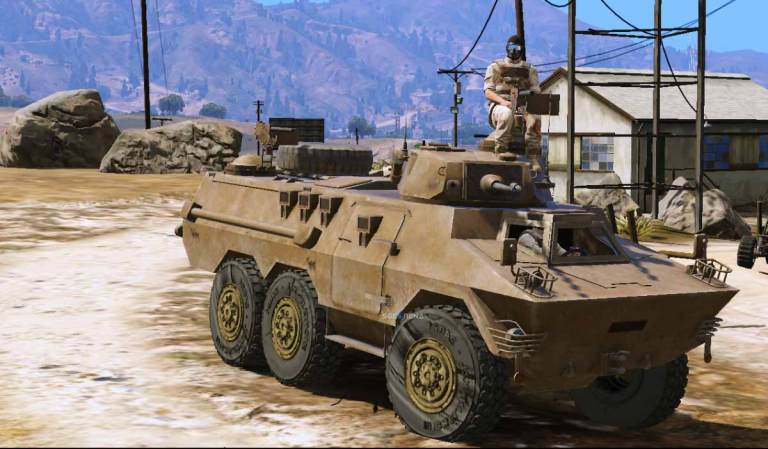 Ratel Command TNI-AD Military Tank Mod for BUSSID