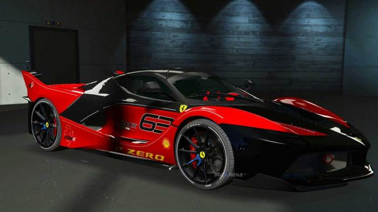 Ferrari FXX-K Super Car Mod for BUSSID
