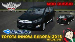 Download Toyota Innova Reborn 2016 Car Mod for BUSSID, Toyota Innova Reborn 2016 Car mod, BUSSID Car Mod, BUSSID Vehicle Mod, MAH Channel, Toyota