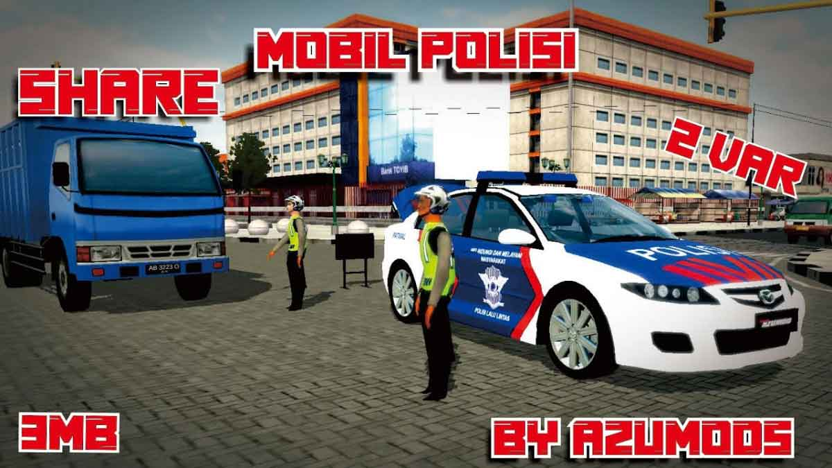 Download Mazda 6 Polisi Car Mod for BUSSID, Mazda 6 Polisi Car Mod, AZUMODS, BUSSID Car Mod, BUSSID Vehicle Mod, Mazda, Mazda Car Mod