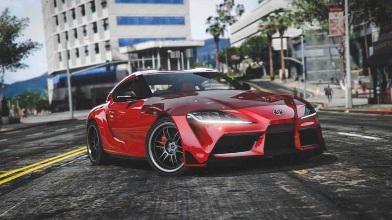 2020 Toyota Supra GR Car Mod for BUSSID
