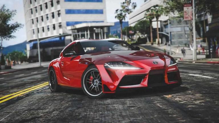 2020 Toyota Supra GR Car Mod for BUSSID
