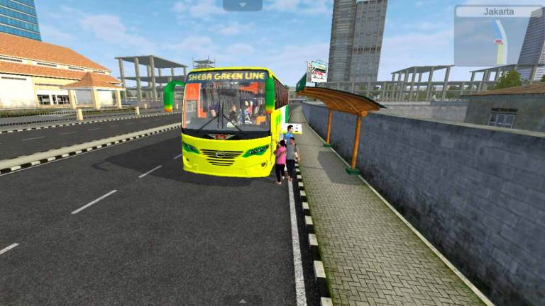 Hino AK1J Aftab New Body Bus Mod for BUSSID