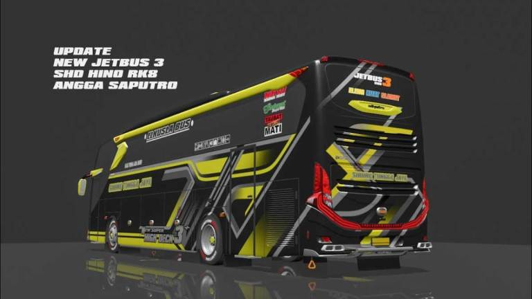 Jetbus3 SHD Hino Bus Mod for Bus Simulator Indonesia