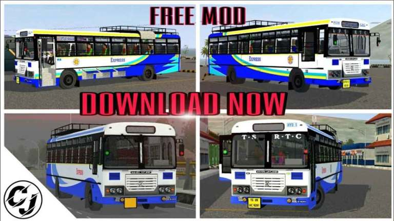 Ashok Leyland AP-TSRTC Indian Bus Mod for BUSSID