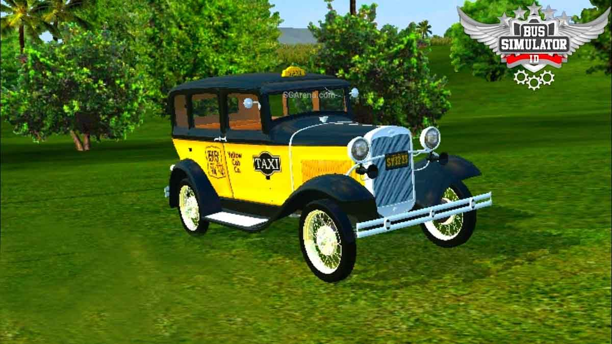 Download 1931 Ford Model Taxi Mod BUSISD, 1931 Ford Model Taxi, BUSSID Car Mod, BUSSID Vehicle Mod, Ford, MAH Channel
