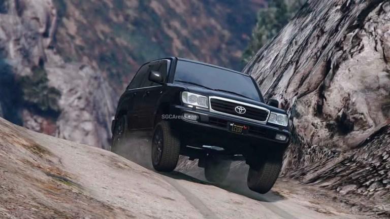 Toyota Land Cruiser 100 VX Car Mod BUSSID