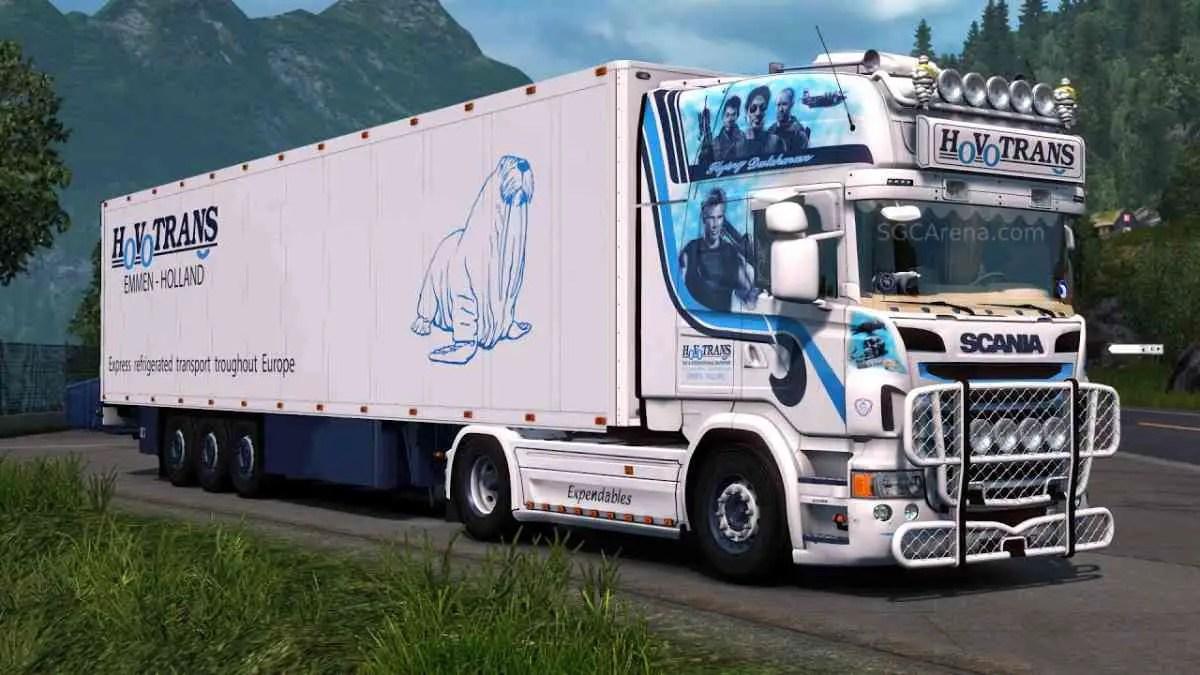 Scania R580 Trailer Truck Mod BUSSID