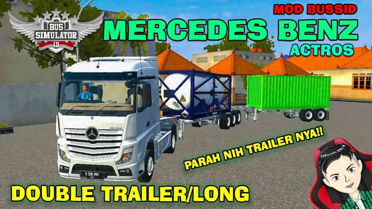 Download Mercedes-Benz Actors Truck Mod BUSSID, Mercedes-Benz Actors, BUSSID Truck Mod, BUSSID Vehicle Mod, MAH Channel, Mercedes Benz