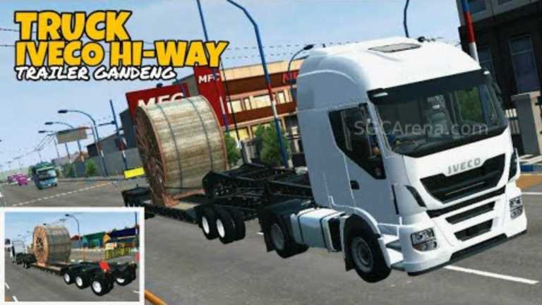 Iveco Hi-Way Rolls Cable Truck Mod for BUSSID