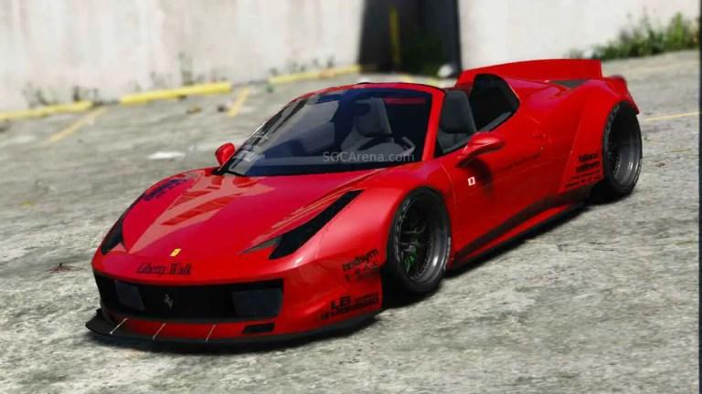 Liberty Walk Ferrari 458 Spider Mod BUSSID