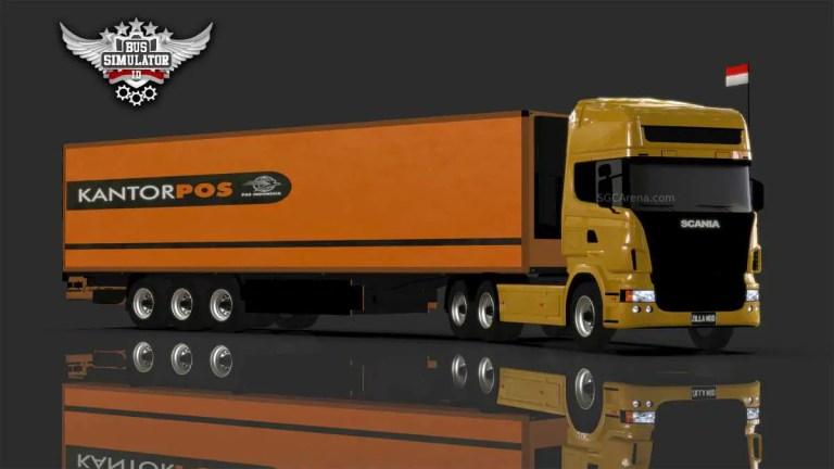 Scania Trailer Truck Mod BUSSID