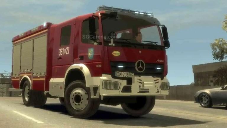 Mercedes-Benz Atego Firetruck Mod BUSSID