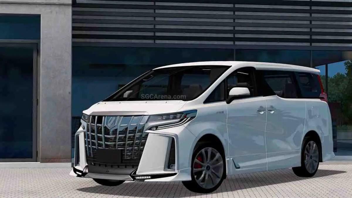 Download Toyota Alphard Hybrid Car Mod BUSSID, Toyota Alphard Hybrid, BUSSID Car Mod, BUSSID Vehicle Mod, MAH Channel, Toyota, Toyota Alphard