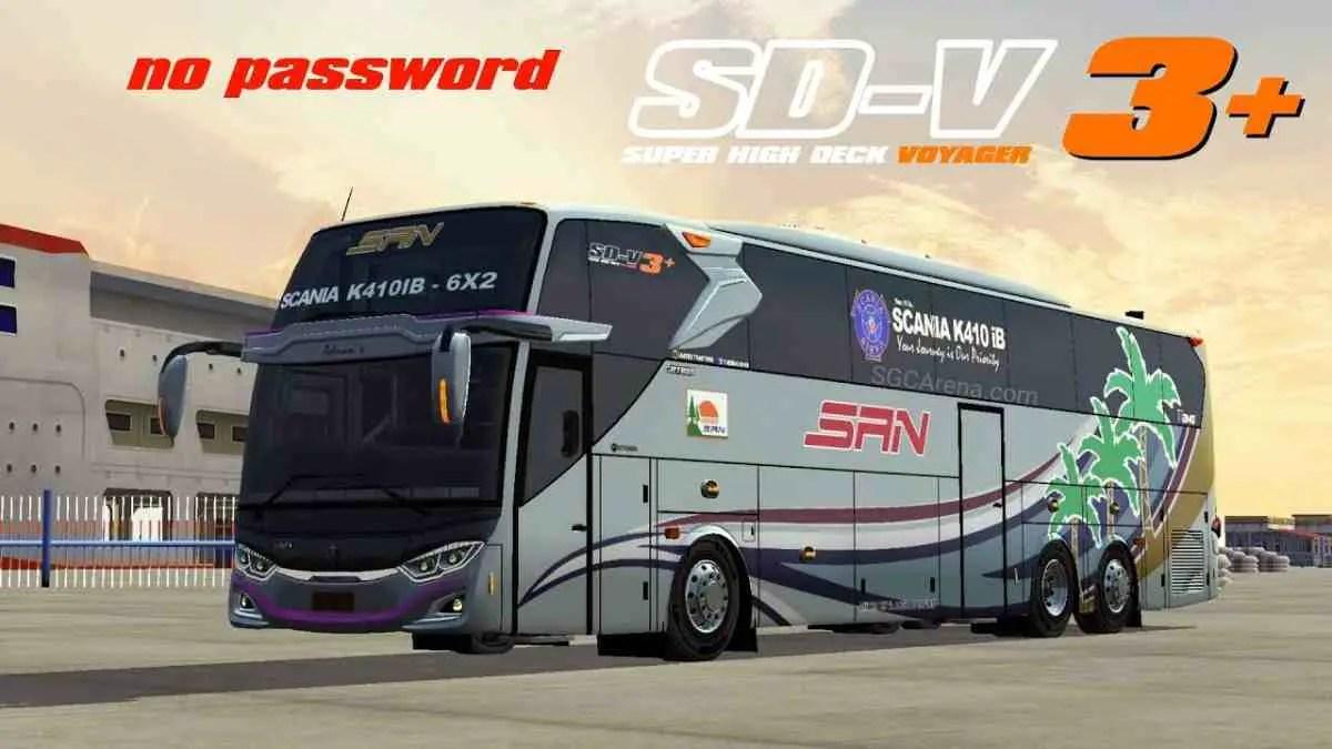 Download Super High Deck Voyager 3+ Scania K410 ib Mod BUSSID, Super High Deck Voyager 3+ Scania K410 ib, BUSSID Bus Mod, BUSSID Vehicle Mod, Faridh Madyawan