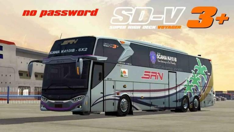 Super High Deck Voyager 3+ Scania K410 ib Mod BUSSID