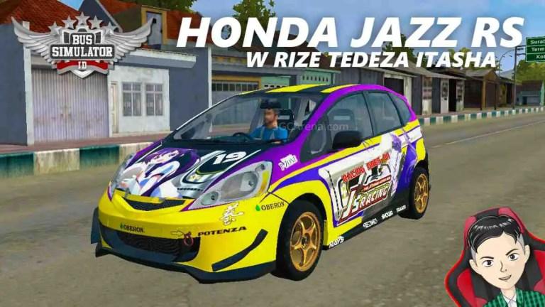 Honda Jazz RS W Rize Tedeza Itasha Mod BUSSID