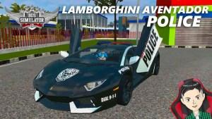 Download Lamborghini Aventador LP 700-4 Police Mod BUSSID, Lamborghini Aventador LP 700-4, BUSSID Car Mod, BUSSID Vehicle Mod, Lamborghini, MAH Channel, Super Car Mod