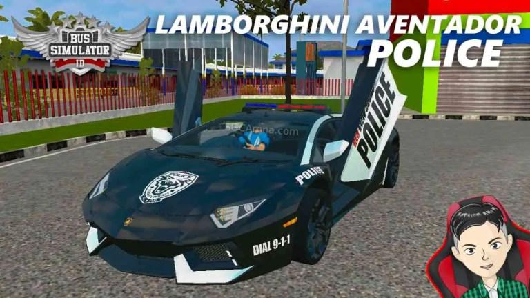 Lamborghini Aventador LP 700-4 Police Mod BUSSID