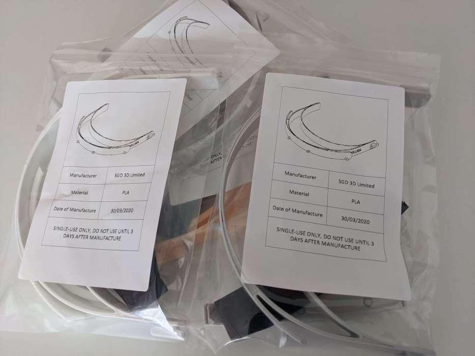 Bagged Masks scaled - Corona Virus - 3D Printed Face Shield Guide