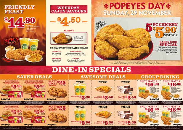 DLOUISIA1110342 Popeyes Spicy Chicken LTO A4 Flyer R2 Path