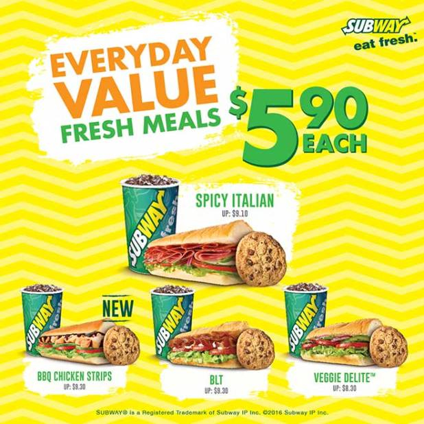Subway Singapore NEWEST Promotions and Coupon Deals for  : Subway Everyday Value Meal 5 90 dollar each jan 2017 1 from www.sgdtips.com size 618 x 618 jpeg 61kB