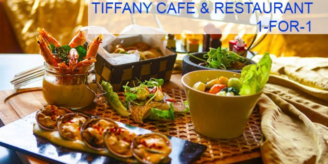 1-for-1 buffet promotion at Tiffany Cafe