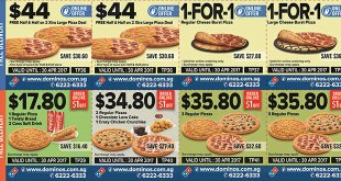 Dominos Singapore 1-for-1 Pizza Coupon Deals