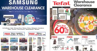 COURTS Megastore Samsung Tefal warehouse clearance 2017